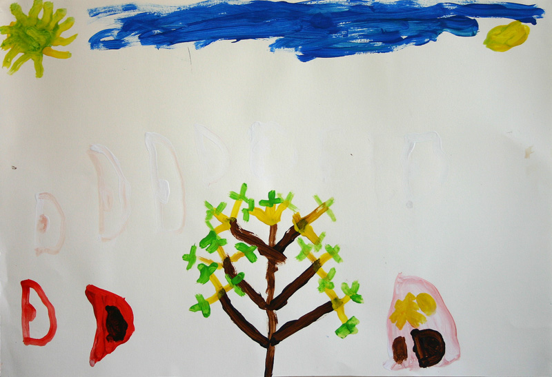 Haus, Baum, Vogel